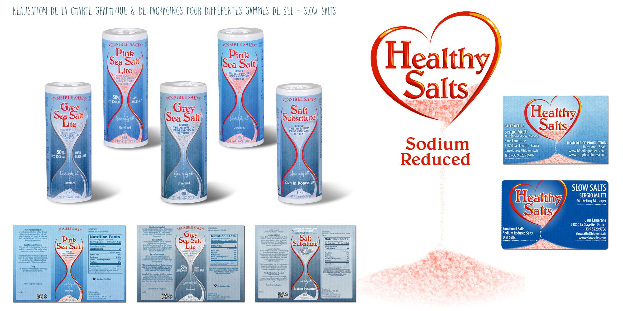 Etiquettes pour la marque Slow Salt